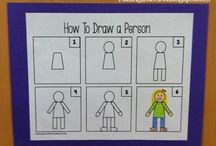 How To.... / Many children struggle with drawing. These are some of my favorite pictures that help kids learn how to draw a person, animals and pictures.