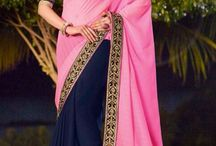 Party Wear Sarees / Party wear sarees in Georgette, Chiffon, Crepe, Art Silk
