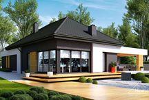 HomeKONCEPT 27 | Projekt domu / Projekt domu parterowego w stylu nowoczesnym. www.homekoncept.pl