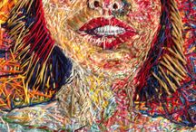 Thread Paintings / Works of art one thread at a time by Didi Menendez.