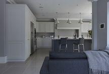 Stonehouse Shaker kitchen ideas / Hand painted kitchen, shaker kitchens, home improvements, kitchen dinner, Lighting, kitchen renovations