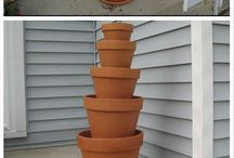 Layered pot planting / Pot plant tower