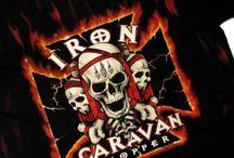 Байкерские футболки / Байкерские футболки, футболки для мотоциклистов с байкерской символикой - черепа, орлы, тату, двигатели, мотоциклы