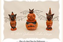 Halloween Folk Art / Remembering the simplicities of Halloween's past through great art!