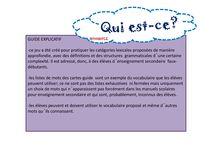 Mes jeux FLE / Jeux que j´ai créés pour travailler l´oral en classe de français.