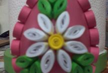 My quilling eggs.
