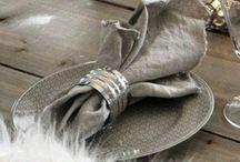 Serviettring og servietter
