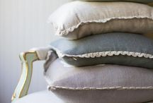 Royal Scout Antler Pillows / The iconic look of a Royal Scout is the antler silhouette. Our linen Antler Pillow is a versitile, lux accessory, trimmed with crocheted lace. Available in four irresistible colors; Natural, Sky, Fog, and Smoke.