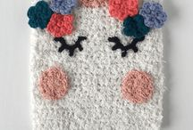 Unicorn washcloth