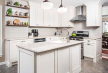 """Leap into Spring Kitchen Inspiration Board / Are you looking for some fresh ideas to spruce up your space this spring? Fabuwood has some fresh pins for you for you to gain some """"pin""""-speration! Enjoy!"""