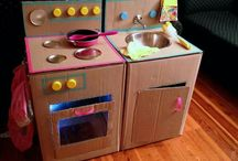 DIY kids carton kitchen