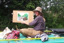 Art on the Barge / These pictures are from our painting day on Annis Barge on the 19th August 2013 at Pewsey Wharf.  Lovely day and lovely place thanks to Annie and her Barge.