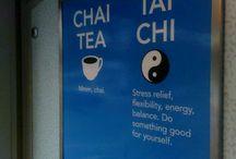 chai chi / chai tea and tai chi