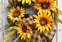Sunflowers-quilts, crafts, wreaths
