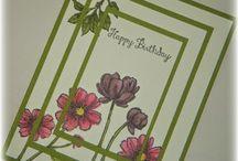 Karten Frühling, Sommer / Cards Summer, Spring / Fröhliche Grußkarten mit fröhlichen Farben und Motiven.
