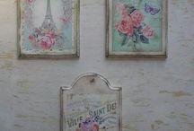 Fali dekor, órák