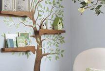 Ağaç duvar boyama