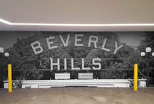 Beverly Hills Bygone Era Project / Great full wall digital mural designs of a bygone era.. see more @ http://metwest.com/2015/12/interview-with-a-client/