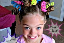 Crazy Hair Day Hairstyles / Here are some styles that would work great for Crazy Hair Day at school!!