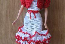 vestidos de bonecas crochet
