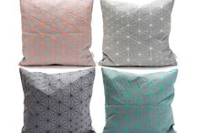 Origami Geometric Pillows / The Origami Pillow Cover has a textured, geometric pattern that goes beyond standard two dimensionality into a unique, shape-making surface. This piece offers a clever update for your bedding and home decor.  Printed on both sides in a special technique that allows the fabric to fold and turn 3 dimensional. Just throw it on the sofa and add a sophisticated touch to your living room.