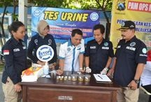 Wujudkan Kediri Bebas Narkoba, BNN Kabupaten Kediri Gelar Tes Urine