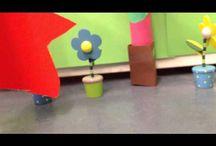 Stop motion ruimte prisma / Een filmpje van een raket die de lucht in gaat