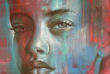 schilderij gezicht