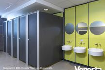 Tudor Grange Academy / With fluted floor fixed aluminium pilasters and a robust frame design, our Centurion washroom cubicles are renowned for their strength and rigidity.