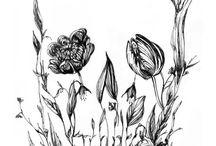 floral skull tattoos