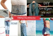 DIY Denim Recycling Ideas / This board will give you unique DIY ideas on how to recycle old denim into something creatively useful.