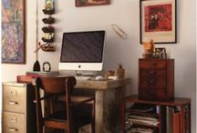 desk + work space ideas / by Natasha Novikova