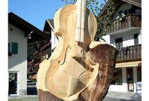 Eulen auf Holz