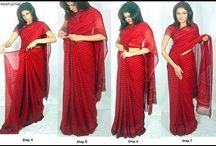 how to were a saree