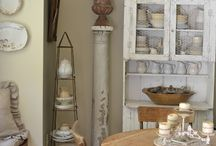 French Style Shabby Chic Vintage Kitchen Ideas