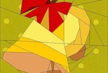 paper piecing navideño