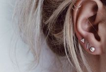 Earrings and piercings