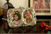 White Metal Photo frames