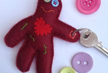 Keyrings / Hand sewn keyring