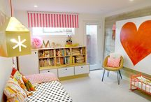 Interiors // Play Room Inspiration / Turning kiddie clutter into a fun, bright play space!