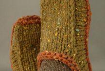 pletené papuče