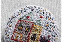текстильные броши / броши вышитые, вяленые, вязаные