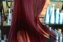 Hårfärg Rött