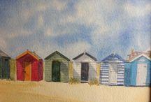 Southwold / Watercolours by Alison crisp