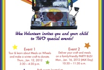 Volunteer - Meals On BIG Wheels / Wee Volunteer host Meals On 'BIG' Wheels! for parents/caregivers and children. We deliver meals for Meals On Wheels on a party bus! We make cards to deliver with our meals and tour the Meals On Wheels Volunteer Kitchen. Awesome project!