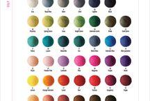 FELT CHART INSPIRATIONS / Felt balla colors