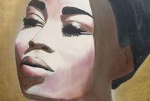 Portret Plus by Ingeborg Herckenrath / Portretten schilderijen vrouwen geschilderde portret portret painting popart art kunst gezichten