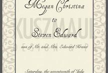 Wedding Invitations / Wedding invitations designed by Kuszmaul Design  & PR