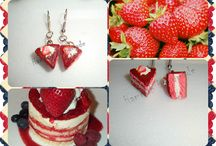 Cake Collection I (2013) by Hammah Handmade / Handmade earrings using polymer clay.  http://hammah-handmade.wix.com/page