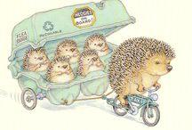 Hedgehogs - For Sophia!